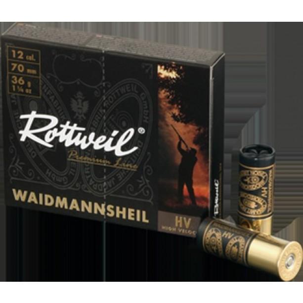 Naboj Rottweil Waidmannsheil HV 12/70, 3.5mm