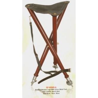 Trinožni stolček, kovinske nogice, visok 70 cm